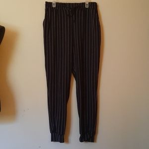 Brush poly jogger with shoe lace tie